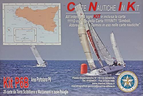 Istituto Idrografico della Marina Carte NAUTICHE Stretto di Sicilia. Kit P6B. 25 Carte Torre SCIBILLIANA A MARZAMEMI E Isole PELAGIE