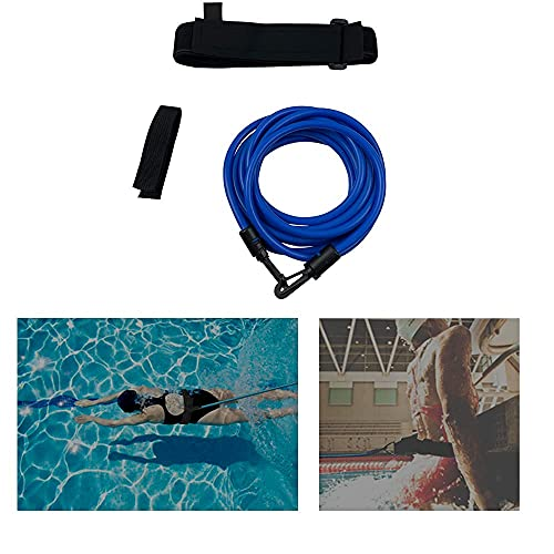 Swim Training Belts 4 Meter Swim Stationary Tether Swim Harness Static Swim Resistance Bands Bungee Cords for Adult Kids Swim Belt