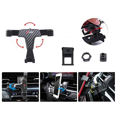 LFOTPP Soporte de Coche para Golf 7 GTI R, Ajustable Giratorio 360°, Soporte para teléfono móvil de Fibra de Carbono
