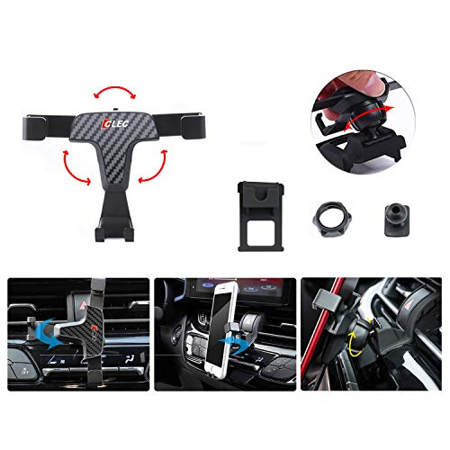 LFOTPP Auto Handy Halterung für Golf 7 GTI R, 360° Drehbar Handyhalter, Carbon Fiber Gravity Phone Holder