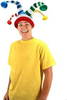 rainbow jester hat