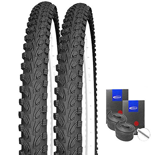 KENDA Set: 2 x K898 schwarz MTB Reifen 26x2.10 + Schwalbe SCHLÄUCHE Autoventil