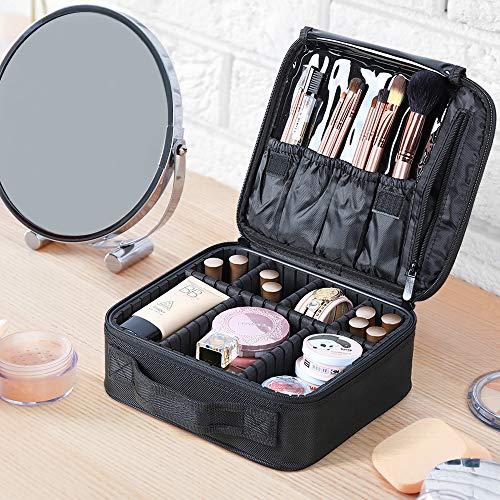 Kosmetische Reisetasche wasserdicht Make-up Pinsel Aufbewahrung für Männer und Frauen schwarz S