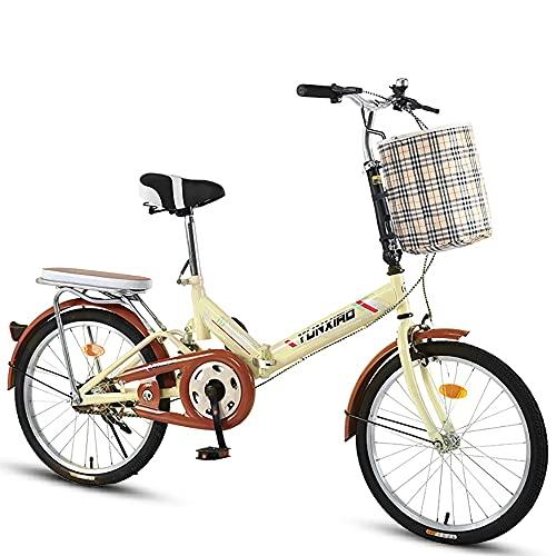 DODOBD Bicicleta Plegable Bikes, Folding Bicicleta Plegable Cuadro Aluminio Ruedas, Bicicleta Retro...