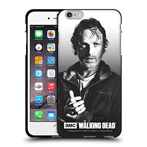Head Case Designs Oficial AMC The Walking Dead Rick Retratos filtrados Funda de Gel Negro Compatible con Apple iPhone 6 Plus/iPhone 6s Plus