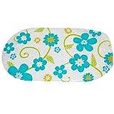 Warrah Mehrzweck-Badeteppich/PVC-Material für Babys, Badewannen-Matte, rutschfeste Matten für Kinder, Sicherheit für Dusche und Badezimmer, Ozean-Muster blaue blume