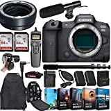 CanonEOS R5 Mirrorless Digital Camera (Body Only) and Mount Adapter EF-EOS R Bundle + Deluxe Accessories Kit