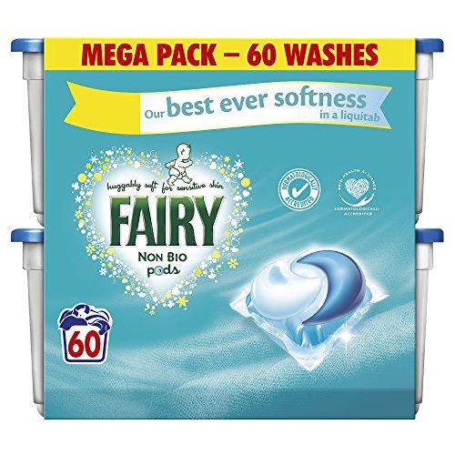 Fairy Non Bio vainas lavado cápsulas - 3 x 60 Pack (180 lavados)