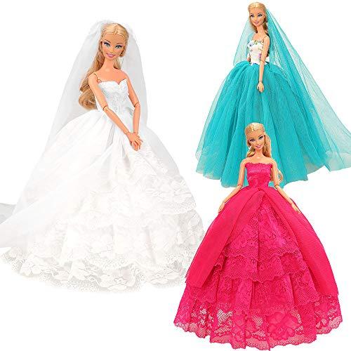 Festfun 3 vestido de noche para muñeca de 11,5 pulgadas