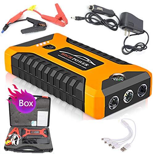 Auto Starthilfe Batteriestartgerät Power Bank 2000A Starthilfe Auto Buster Notfall Booster Starthilfe für Autoladegeräte,Yellow