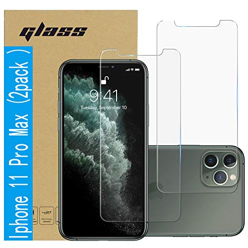 (2 Pack ) Amuoc Tempered Glass Film for Apple iPhone 11 Pro MAX Screen Protector and iPhone Xs MAX Screen Protector…