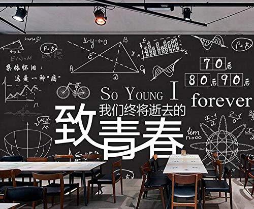 Muursticker muurschildering mode met de hand beschilderd krijt woord poster café dessert winkel ijs winkel pizza winkel bakkerij restaurant foto behang 350cmx256cm(137.8x100.8inch)