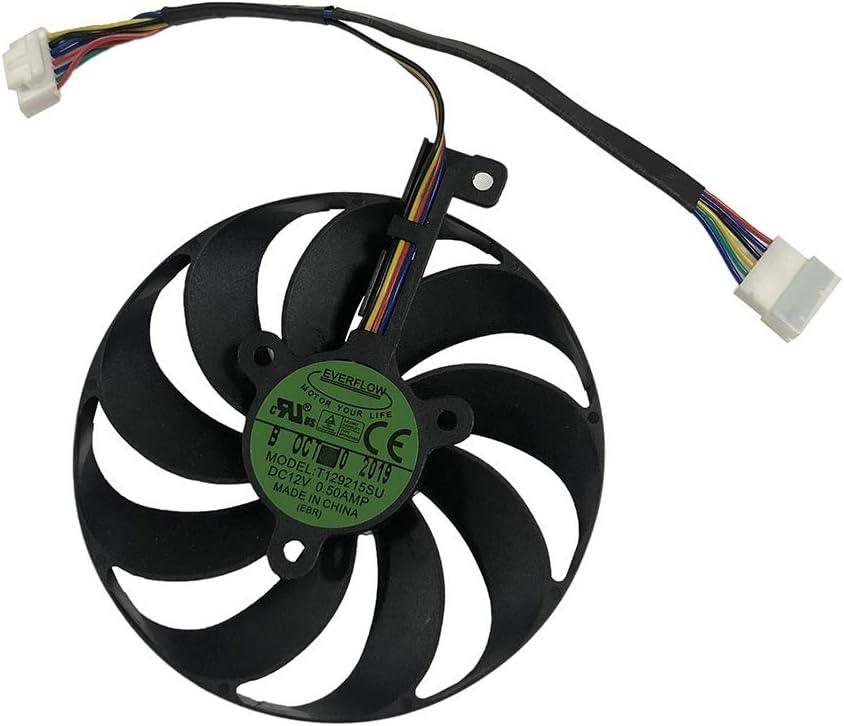 1 Piece 7pin Sacramento Mall Single Fan T129215SU Ranking TOP20 GPU Fans with Powe Card Cooler