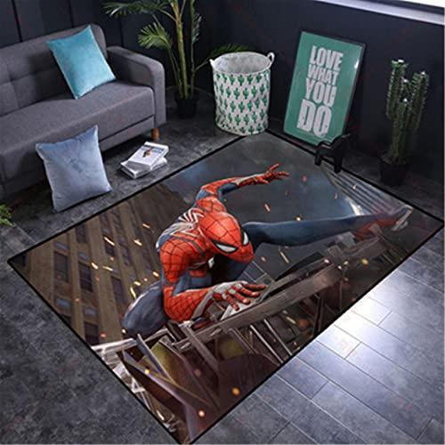 wanyouyinli The Avengers Marvel Team Superhelden Fußmatte Teppich Spiderman Iron Man Captain America Teppichboden Schlafzimmer Fußmatte rutschfeste Matte Geschenk Y-1579C 80X150Cm