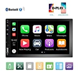 Camecho Double Din Car Stereo 7'' 1080P HD Touch Screen D-Play Universal Car