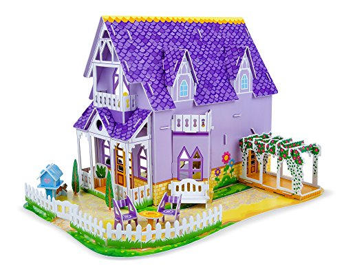 Melissa & Doug Pretty Purple Dollhouse ...