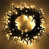 300 LED Mixed-Color string fairy lights on 108ft (33m) dark green cable Lighting with 8 modes to provide the perfect environment as your decorative needs. With memory function, lights will work in the mode you set last time and no need to re-set. Low...