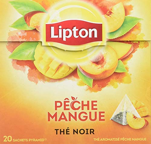 Lipton Tea - Bolsa de té pirámide (1 caja), color naranja