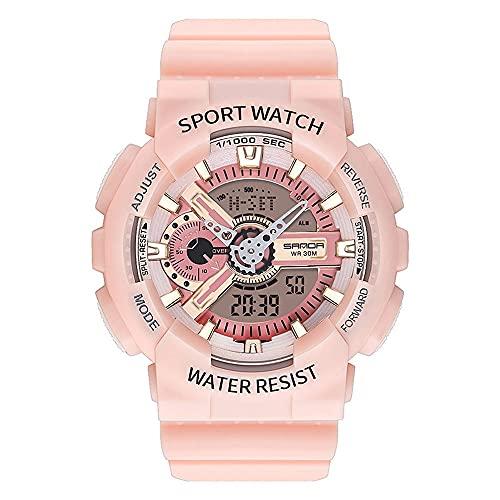 SCIDS Reloj de pulsera unisex para hombre, cronógrafo luminoso, indicador de fecha, seguimiento automático/hora resistente al agua (color: 6)