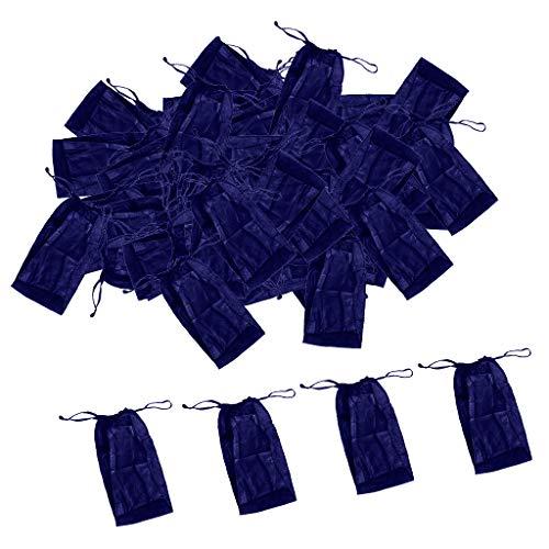 100 Stück Einweg String Tanga für Herren Damen, Blau, einzeln verpackt, hautfreundliches Vlies - Blau
