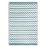 Alfombra pasillera Moderna Azul de Polipropileno para Pasillo de 90 x 150 cm Vitta - LOLAhome