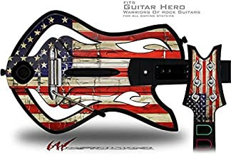 Painted Faded and Cracked USA American Flag Decal Style Skin - fits Warriors Of Rock Guitar Hero Guitar (GUITAR NOT INCLUDED)