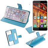 K-S-Trade® Flipcover Für Elephone S3 Lite Schutz Hülle Schutzhülle Flip Cover Handy Case Smartphone Handyhülle Blau