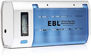 EBL Universal Battery Charger LCD Display with Discharge Function for Ni-MH Ni-CD AA, AAA, C, D Rechargeable Batteries