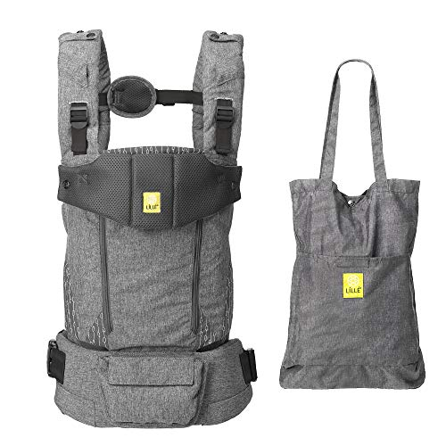 LÍLLÉbaby Serenity All Seasons Six-Position Ergonomic Baby and Child Carrier with Convertible Tote, Argent