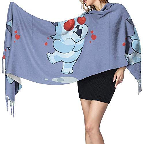 N/A Liefde-Hart Dames Mode Lange Sjaal Winter Warm Grote Sjaal Kasjmier Sjaal met Kwastjes 77 * 27in