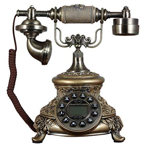 Dirgee Teléfono Antiguo, identificador de Llamadas/Pastoral/estética romántica/Ornamento Rosa 25x20x28cm Teléfono Celular (Color # 2) (Color : #1)