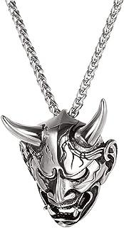 UMtrade Devil Head Pendant Necklace,Gothic Biker for Men/Women Punk Gift Halloween Jewellery