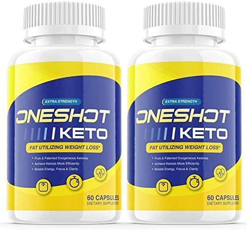 2 Pack One Shot Keto Shark Tank Pills Keto One Shot Advanced Weight Loss Formula Supplement product image