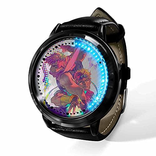 Anime JoJo's Bizarre Adventure Series Reloj Pantalla táctil LED Reloj Digital Resistente al Agua Reloj de Pulsera Unisex Cosplay Regalo Nuevos Relojes de Pulsera niños-A