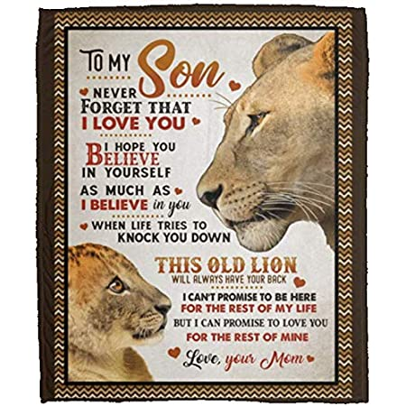 To My Son This Old Lady Will Always Have Your Back Sherpa Blanket