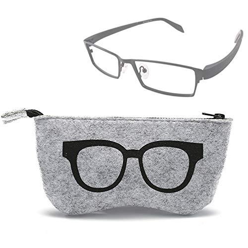Tuzi Qiuge Sonnenbrillen Fall Brillenetui Glas-Muster Felt Schutz Zipper Fall Brille QiuGe (Color : Black)