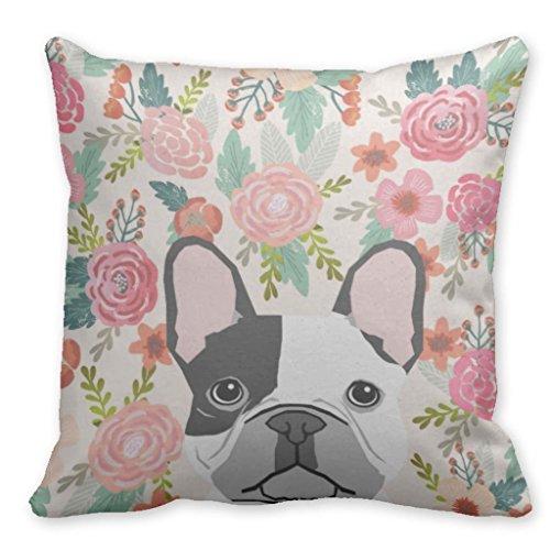 Beautyzan - Fundas de cojín cuadradas para perro bulldog francés retrato de mascota 45,72 cm