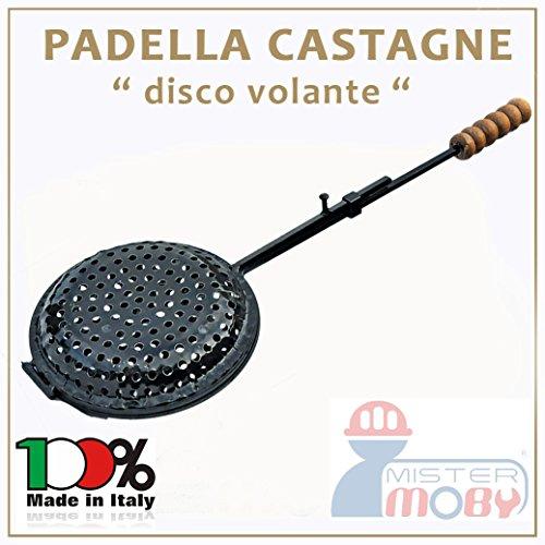 PADELLA CASTAGNE RIBALTABILE DIA 22 CM CUOCI CASTAGNA CALDARROSTE MADE IN ITALY