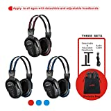 SIMOLIO 3 Pack of Wireless Car Headphones, IR Headphones for Kids in Car...