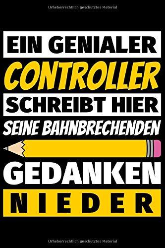 Notizbuch liniert: Controller Geschenke Beruf