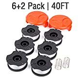 "GARDENOK Line String Trimmer Replacement Spool [ Compatible with Black & Decker AF-100 / Replacement Autofeed Spool ], 40ft 0.065"", 8-Pack or 14-Pack Optional (8-Pack)"