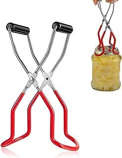 Bestine 2 Pinzas para Levantar Tarros para Conservas Pinzas Esterilizadoras para Tarros para Mermelada Antideslizante Clip de Boca Ancha Clip Biber/óN de Alimentaci/óN Red