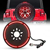 BORDAN Plug & Play Spare Tire Brake Light Third Brake Light Wheel Light LED Ring for Wrangler 2007-2017 JK JKU YJ...