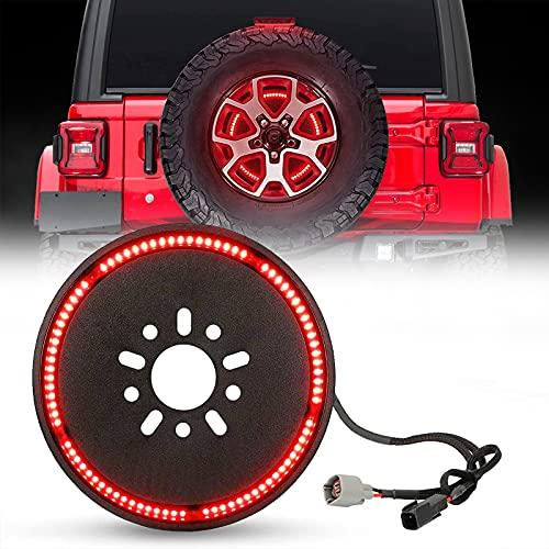 BORDAN Plug & Play Spare Tire Brake Light Third Brake Light Wheel Light LED Ring for Wrangler 2007-2017 JK JKU YJ TJ