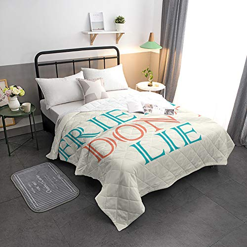 Read About Advancey Reversible Lightweight Bedspread Coverlet Friends Don't Lie Super Soft Washable Microfiber Quilts for All Season, 98×98 inch