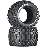 Duratrax Six Pack MT 3.8' RC Monster Truck Tires with Foam Inserts, CS Sport Compound, Unmounted (Set of 2)