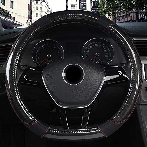 ZIMAwd Cubierta del Volante del Coche Cosida a Mano, Apta para Citroen C3-XR C4 Sega C4L Elysee DS3 DS4 DS5 DS6