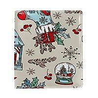 Carrozza ブックカバー 文庫 新書 クリスマス 雪柄 プレゼント 本カバー 16x22cm おしゃれ かわいい PUレザー 革
