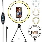 FARI - Anillo de luz para selfies (10 pulgadas, con soporte)