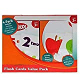 Playskool Flash Cards  - 4 Sets of Flash Cards (Alphabet, Numbers, Colors and Shapes, First Words) - Packaging May Vary